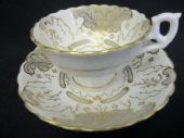 SOLD Early Victorian HAMILTON & MOORE cup & saucer